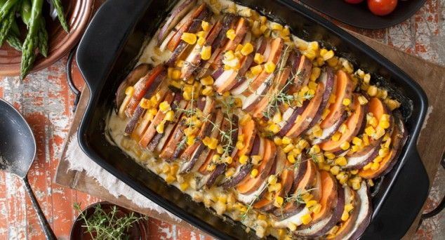 Fill your family's plates with vegies thanks to this tasty gratin by Phoodie.  #vegetarian #dinner #recipe