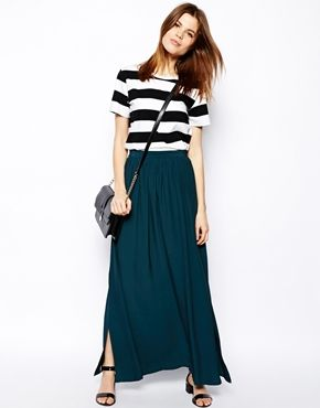 Image 1 of ASOS Maxi Skirt With Splits