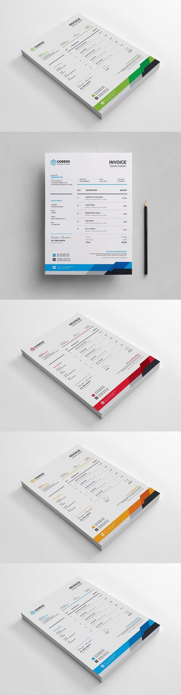 Invoice. Stationery Templates
