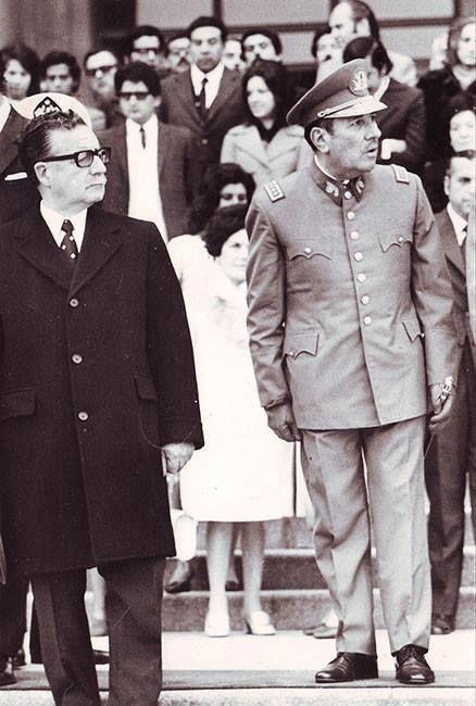 Presidente Allende y el General de ejercito Carlos Prats