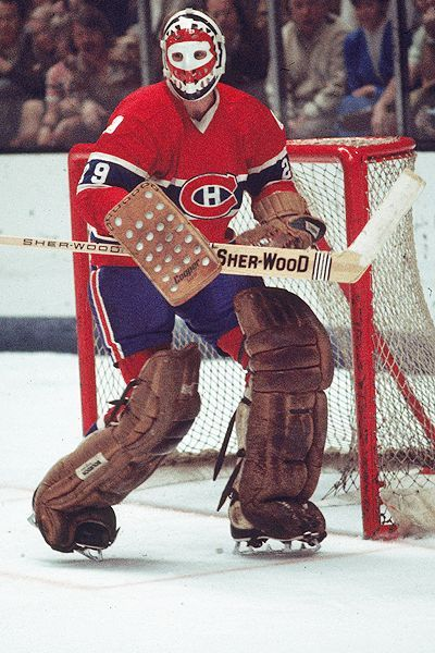 Ken Dryden in the net for the Montreal Canadiens