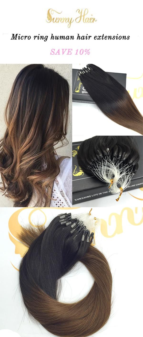 sunny hair human hair extensions,micro loop extensions. black to brown hair. https://g-sunny.com/collections/micro-ring-hair-extension