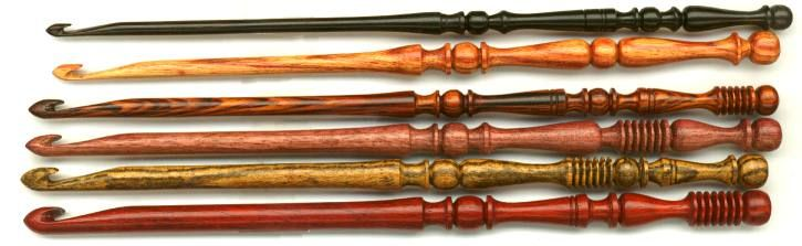 Wooden crochet hooks?  Oh these are beautiful!