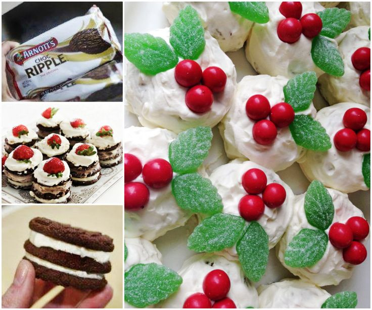 Chocolate Ripple Mini Christmas Puddings - No Bake