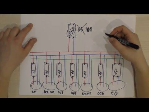 Т 12.2 Схемы сборки группового квартирного щитка - YouTube