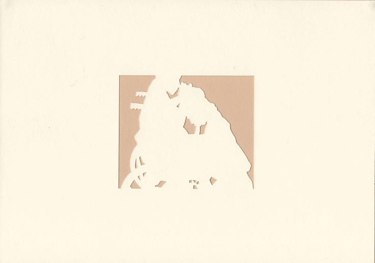 Josito's Will. Stencil on card.