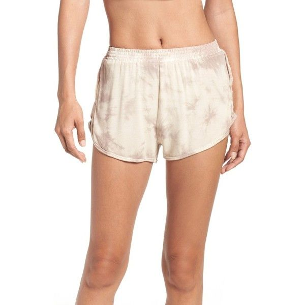 Women's Free People Fp Movement Oasis Shorts ($58) ❤ liked on Polyvore featuring activewear, activewear shorts and peach