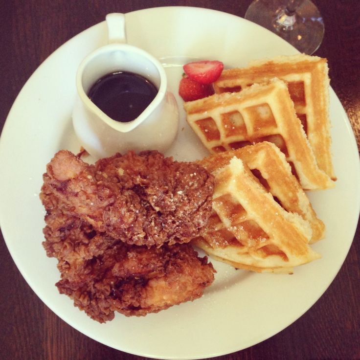 Chicken and waffles from the Country Club! #NOLA