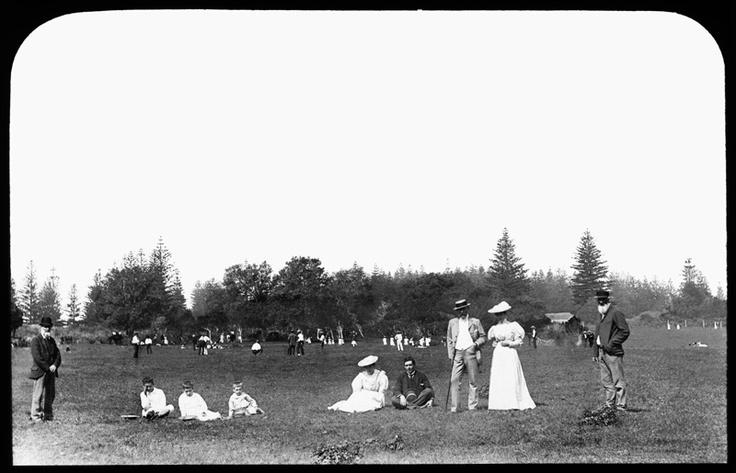 Norfolk Island - watching cricket