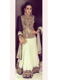 Latest Arrival Designer Off-White & Black Lehenga Choli By Kmozi..  http://www.kmozi.com/bollywood-replica/online-shopping-bollywood-actress-lehenga-choli/latest-arrival-designer-off-white-black-lehenga-choli-by-kmozi-1286