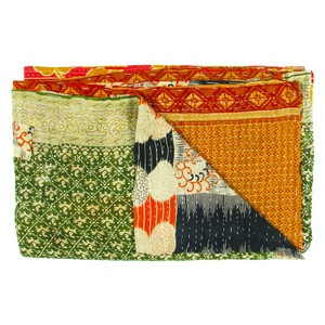 Vintage Sari Throw Haridwar now featured on Fab.
