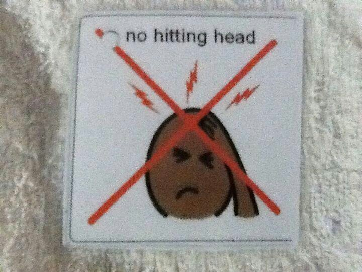 No hitting head | NO....visual pics | Pinterest
