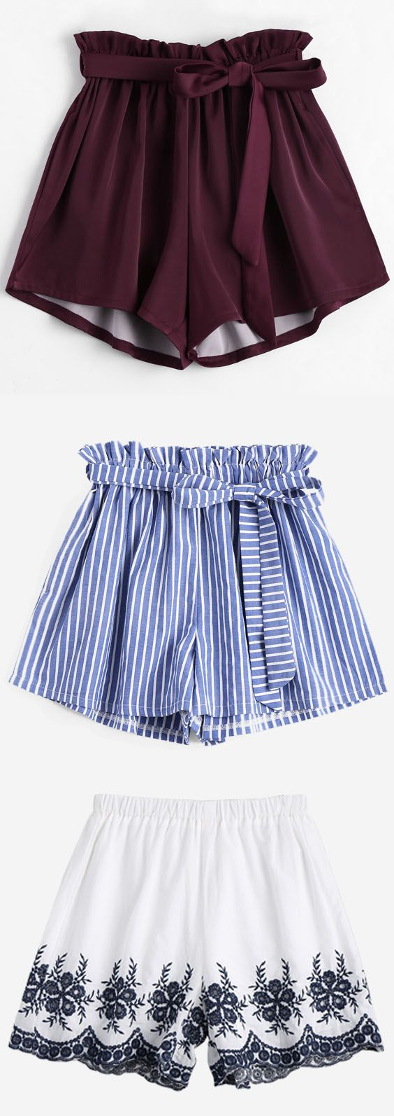 Back to school, back to saving! Free shipping worldwide! Belted Smocked Striped High Waisted Shorts. Zaful, zaful.com, bottoms,shorts,shorts outfits,shorts and tights,shorts outfits women,denim,denim shorts,women shorts,high waisted shorts, jean shorts, boyfriend shorts, dressy shorts, ripped jean shorts, womens khaki shorts, cut off jean shorts, knee length shorts. @zaful Extra 10% OFF Code:ZF2017