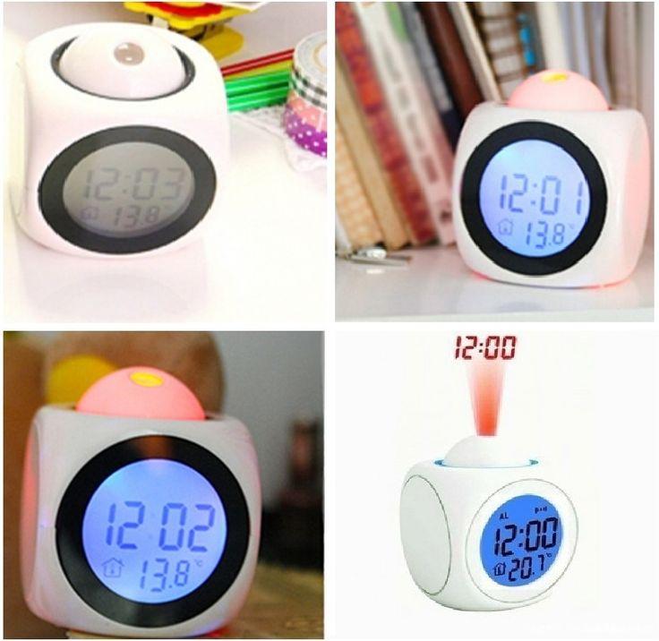 Часы будильник с проекцией времени и температуры