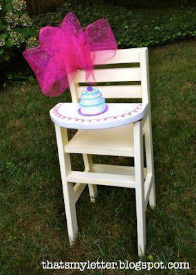 Doll High Chair plans