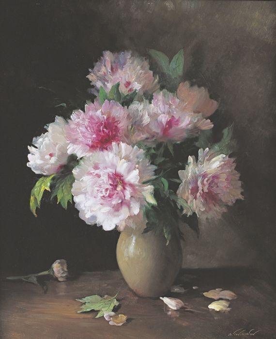 Пионы репродукция для интерьера картина букет цветов маслом цветы в живописи натюрморт пионы в вазе