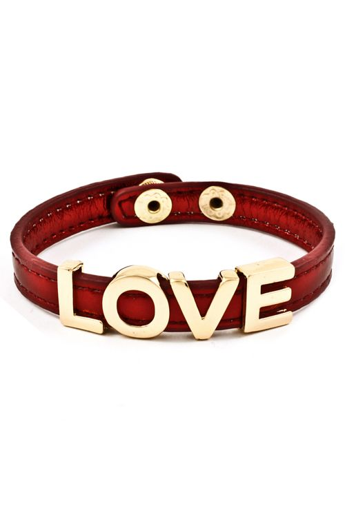 Ruby Love Charm Bracelet
