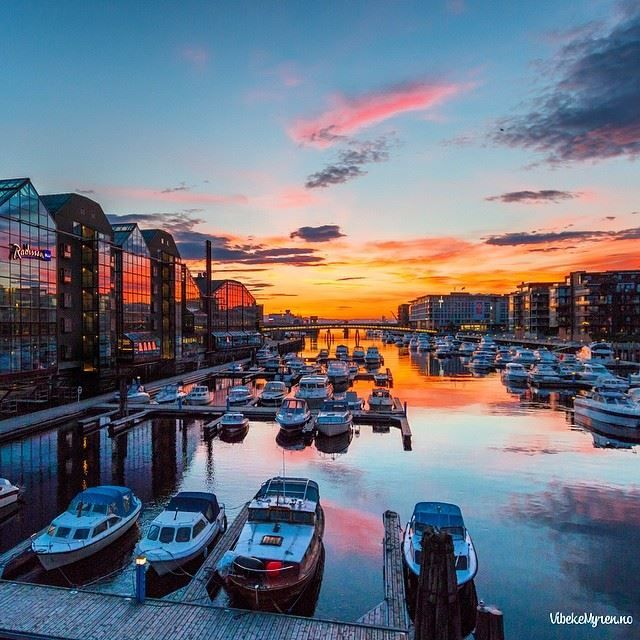 The sun rises early in Trondheim at this time of year. This picture was taken 02:30 AM yesterday. (04.06.2014)  Photo: Vibeke Myren