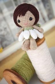 crochet flower doll