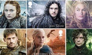 Collection features 15 first class stamps to mark the significant British contribution to the production of the award-winning fantasy series