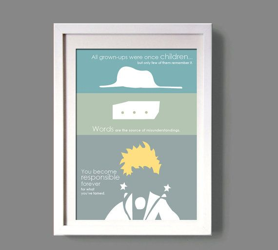 LE PETIT PRINCE poster the little prince wall art by COLOR4FUN