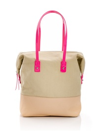 Carry All Tote with Neon Pink.