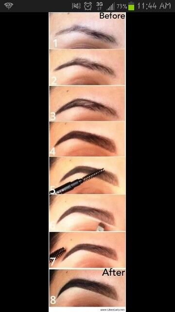 ... Eyebrow Tutorial, Makeup Beautiful, Perfect Brows, Perfect Eyebrows