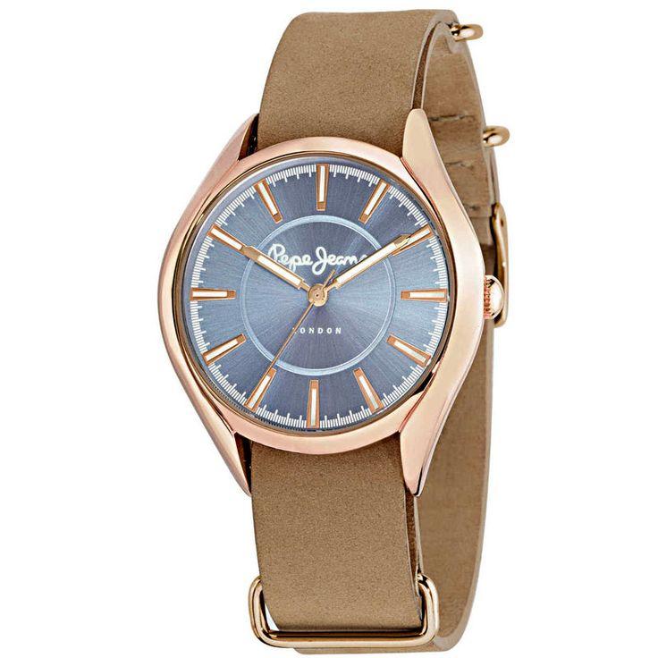 Ρολόι PEPE JEANS Brown Leather Strap