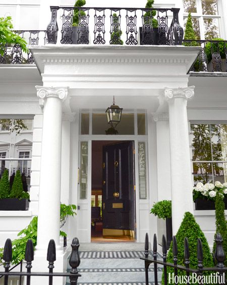 The stately 1860 London townhouse is a commanding presence in fashionable South Kensington. Interior design by Rob Southern.