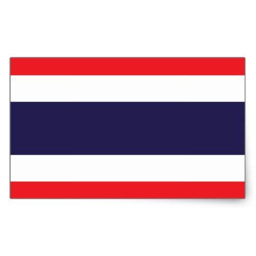 Thailand Flag Sticker Zazzle Com Thailand Flag Thai Flag Print Stickers