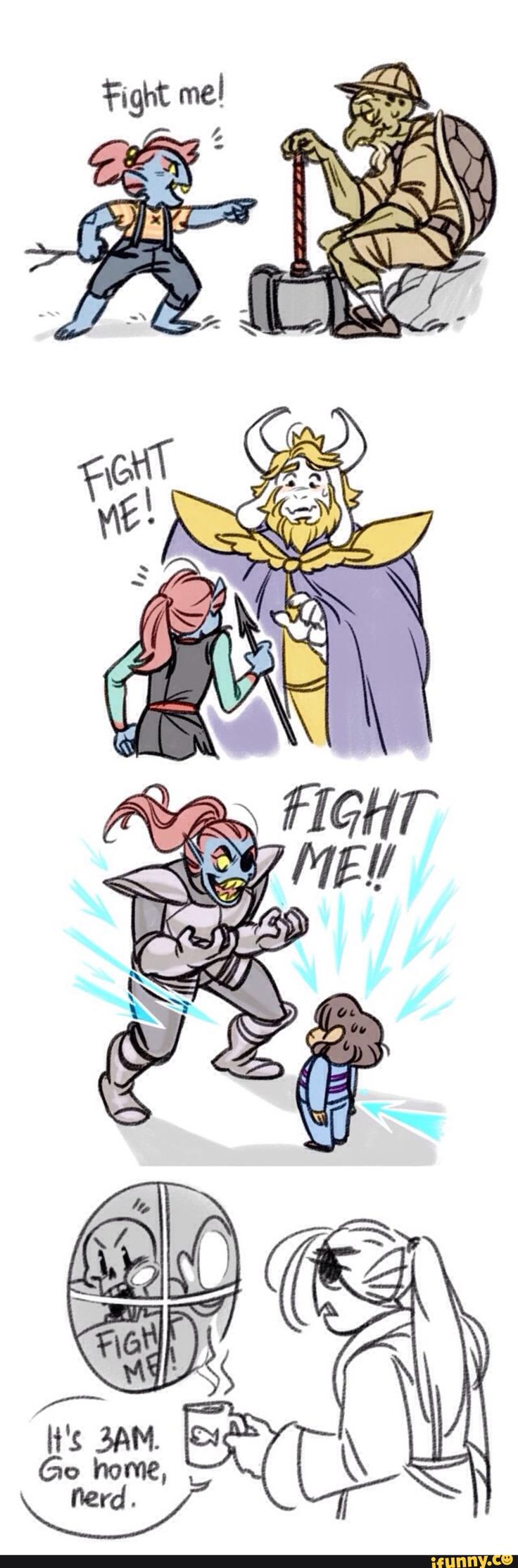 undertale, undyne ---- more evidence that I am the human version of Undyne