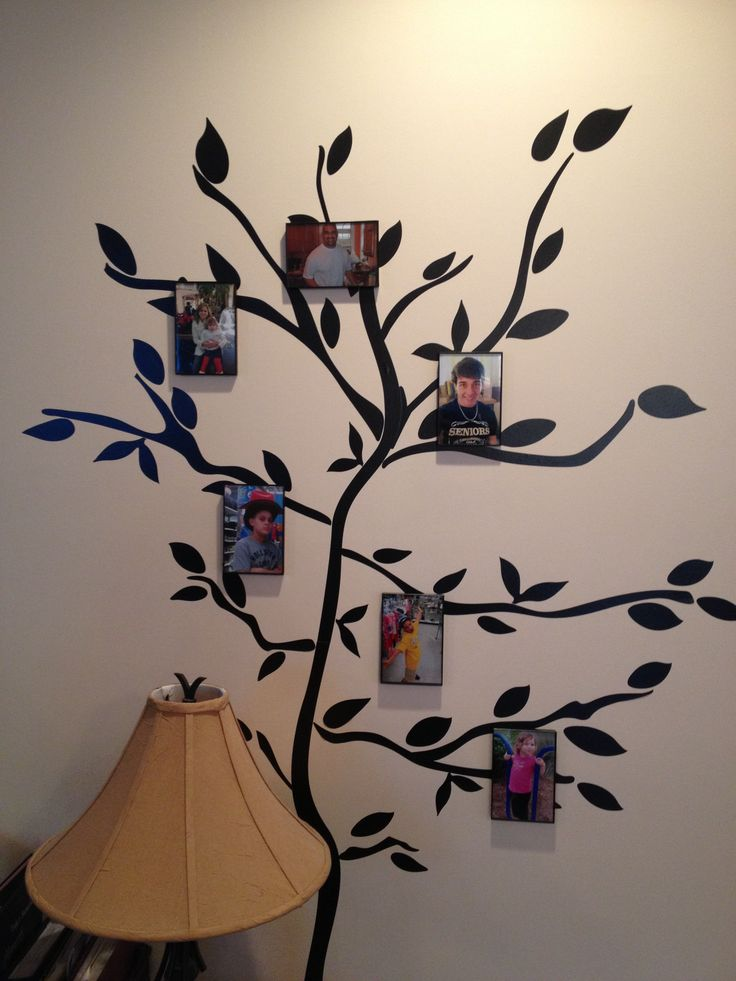 Family tree. Simply with a wall decal from Walmart and ...