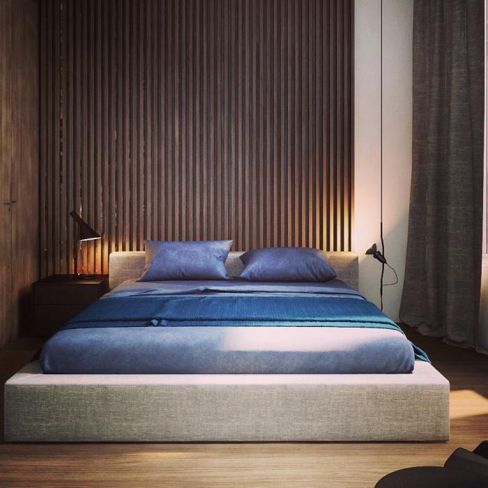 Дизайн спальни для молодого человека.