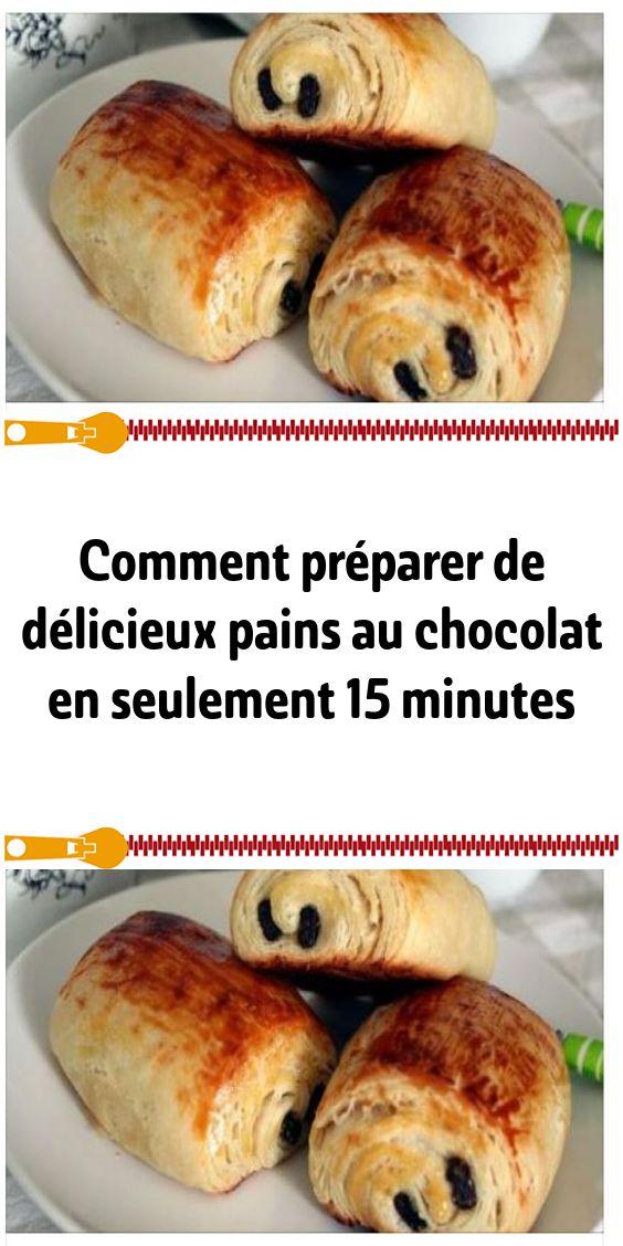 Comment préparer de délicieux pains au chocolat en seulement 15 minutes