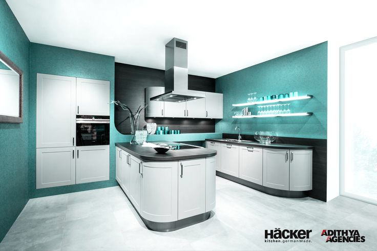 Ever wondered what a aquamarine #kitchen will look like?
