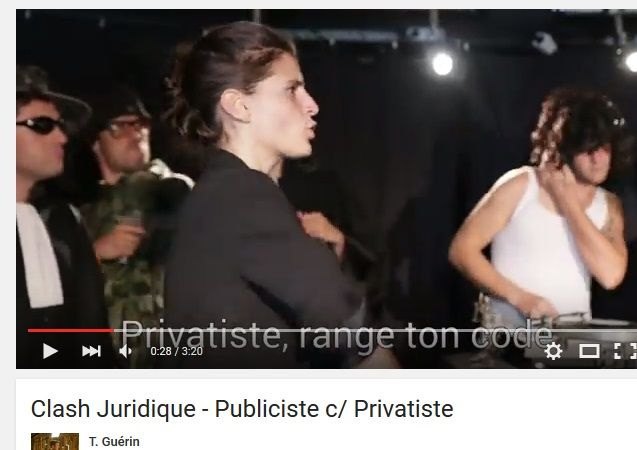 vidéo Clash Juridique - Publiciste c/ Privatiste https://www.youtube.com/watch?v=SrP18LUwF8w