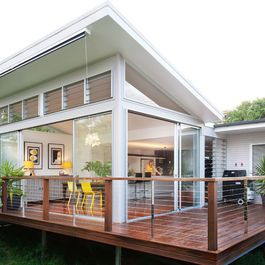 Balastrading for deck. Louvre windows. Houzz