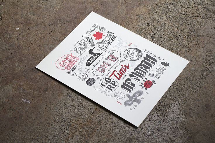 Canadian Phrases by Ben Weeks Letterpress print with silver foil. $20