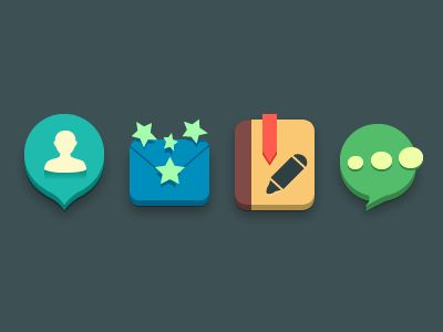 Cute icons by Aric #flat #design #inspiration