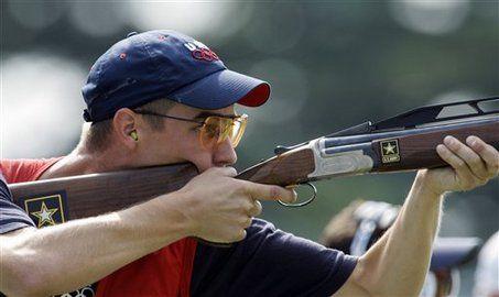 Man Shooting Skeet | Texan Glenn Eller wins gold in double trap shooting
