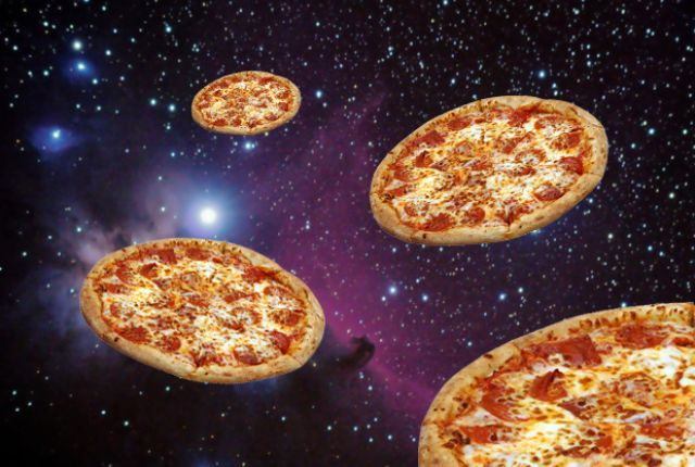 """A Brief History of Pizza in Space: """"Most astronauts would probably love to enjoy a slice of pizza in the final frontier. Unfortunately, serving pizza in low-earth orbit is a fairly difficult task, but this hasn't stopped a few hungry astronauts from trying over the years."""""""