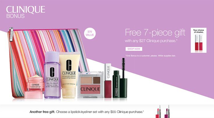 Clinique gift with purchase clinique gift clinique gift