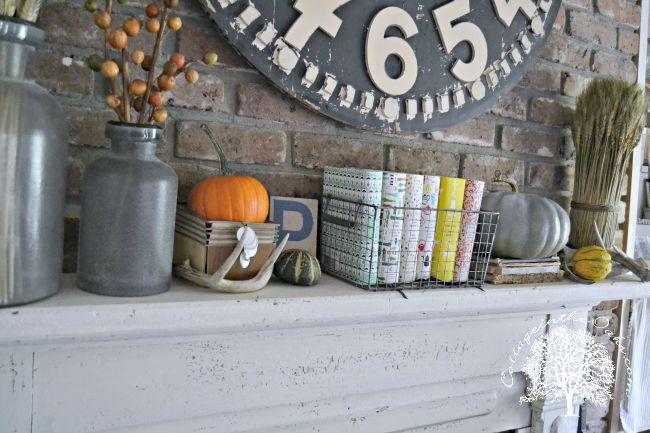 Autumn Mantel ::: Autumn Inspiration - Cottage in the Oaks