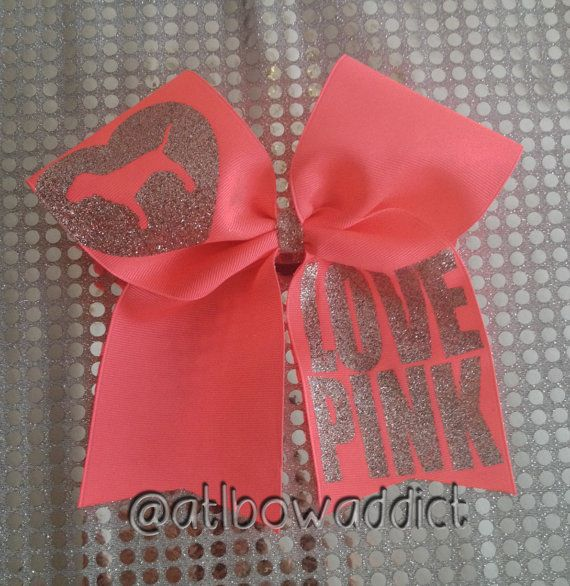 Cheer Bow - Victoria's Secret Pink Logo on Etsy, $11.00