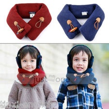 Baby Toddler Kids Children Boys Girls Neck Warmer Warm Winter Loop Wraps Scarf