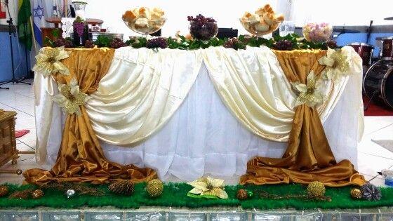 Mesa decorada para santa ceia decora o que fizemos - Fotos de mesas decoradas ...