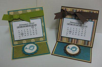 More easel card calendar ideas
