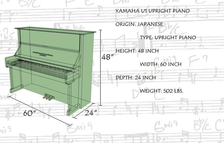 A perennial favorite among discerning pianists the yamaha for Piano upright dimensions