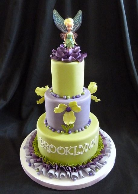Tinkerbell Cake by RebeccaSutterby, via Flickr