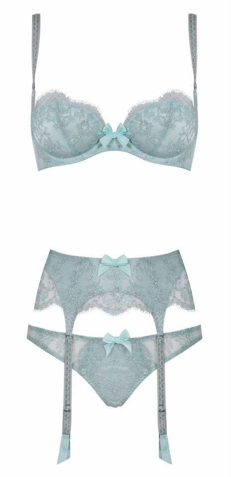 lace lingerie pastel powder blue